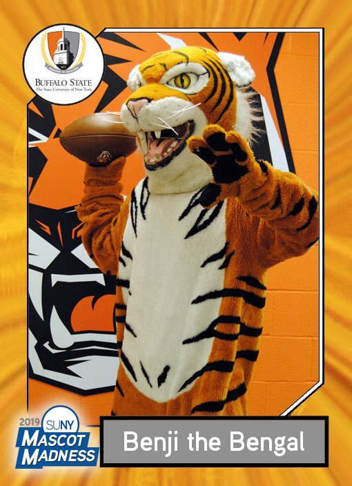 Benji the Bengal, Buffalo State College mascot sportscard