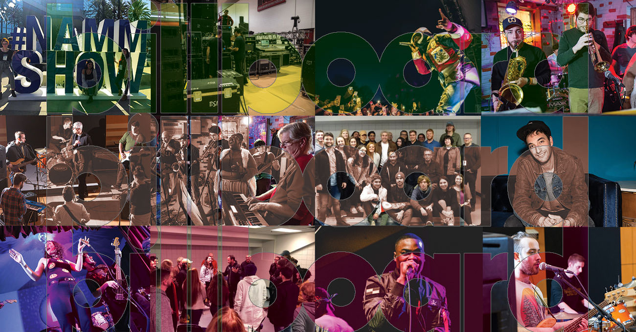collage ofSUNY Oneonta music photos