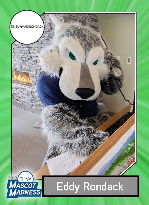 Eddie Rondack, Adirondack Community College mascot sportscard