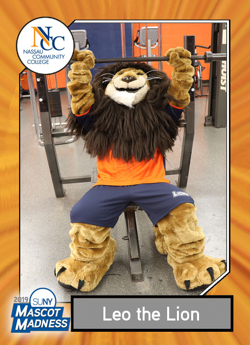 Leo the Lion, Nassau Community College mascot sportscard