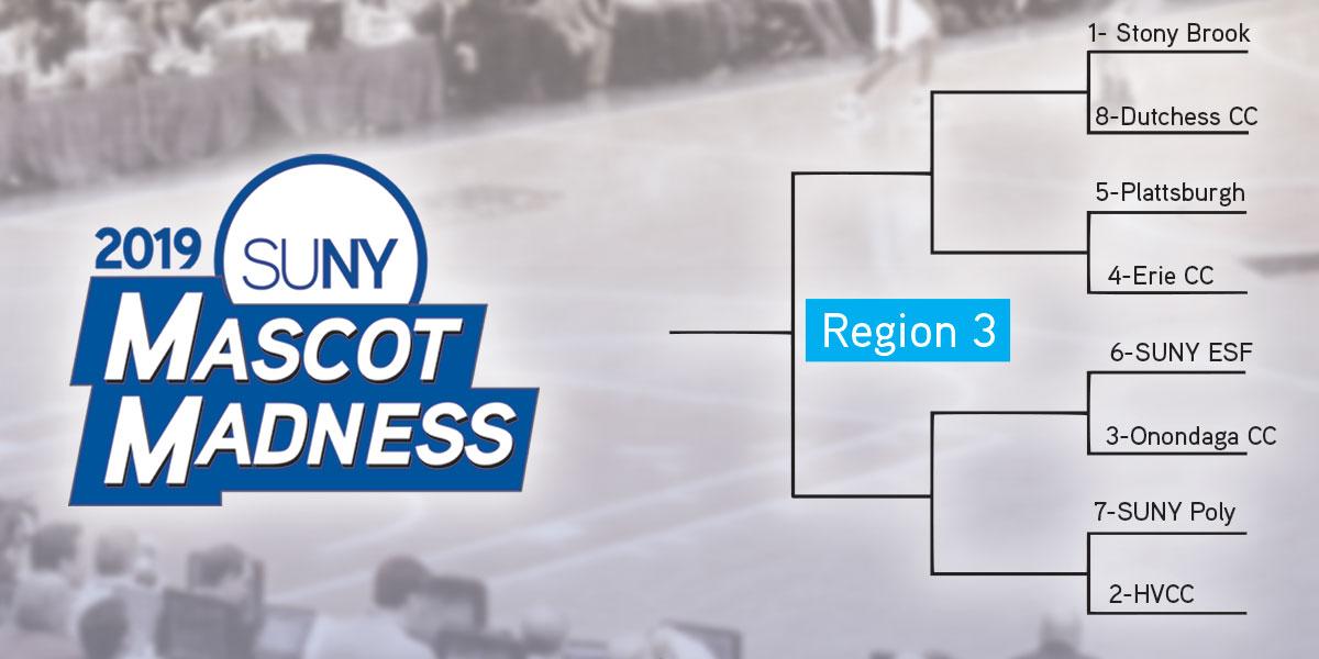 Mascot Madness 2019 region 3 bracket
