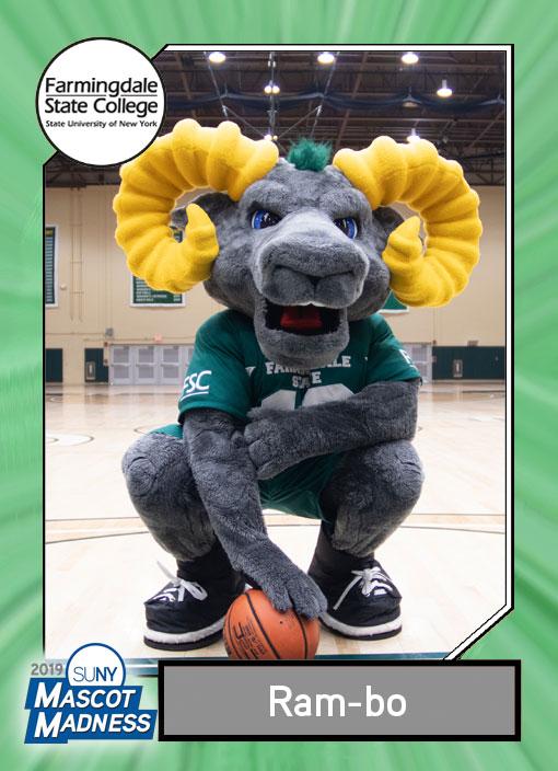 Ram-bo, Farmingdale State College mascot sportscard