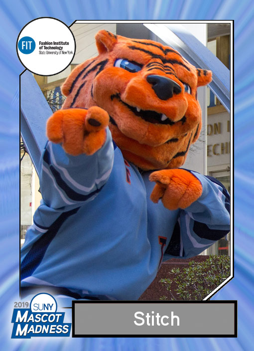 Stitch, Fashion Institute of Technology mascot sportscard