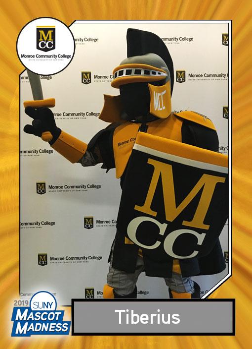 Tiberius, Monroe Community College mascot sportscard