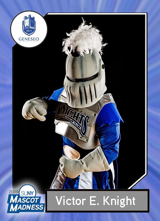 Victor E. Knight, SUNY Geneseo mascot sportscard