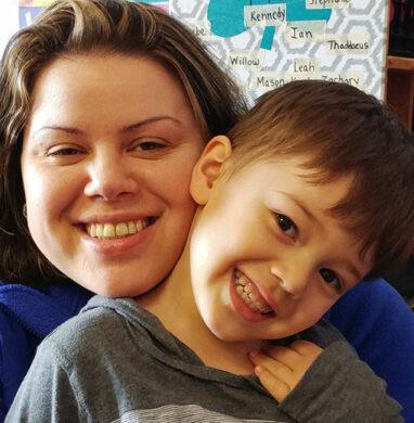 SIngle mom Tatyana Thaddeus with her son Davis.