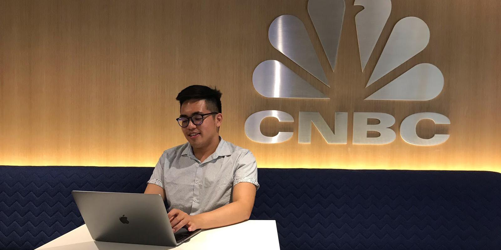 Brian Balayon at CNBC studio