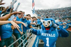 Students at University at Buffalo sporting event