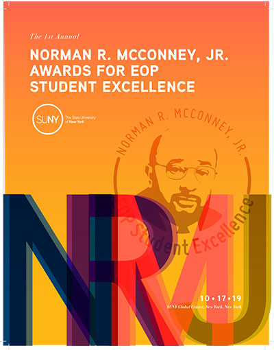 1st annual Norman R. McConney Jr Awards for EOP Student Excellence program cover.