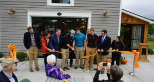 Ribbon cutting at the SUNY Cobleskill Carriage House Cafe & General Store