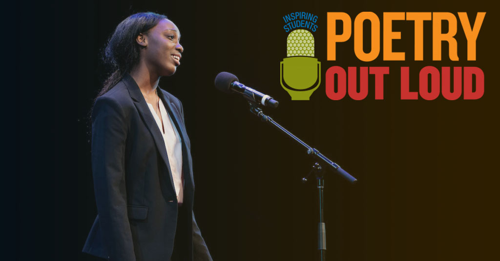 2019 New York Champion Chika Brown performing at Poetry Out Loud Championship.