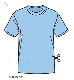 tshirt clip art cut across bottom