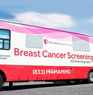 Stony Brook breast cancer mammography van
