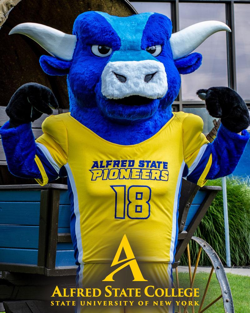 Alfred State College mascot Big Blue