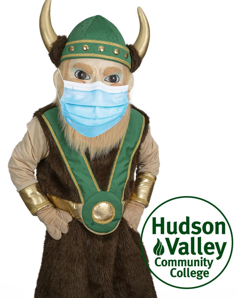 HVCC mascot Victor the Viking