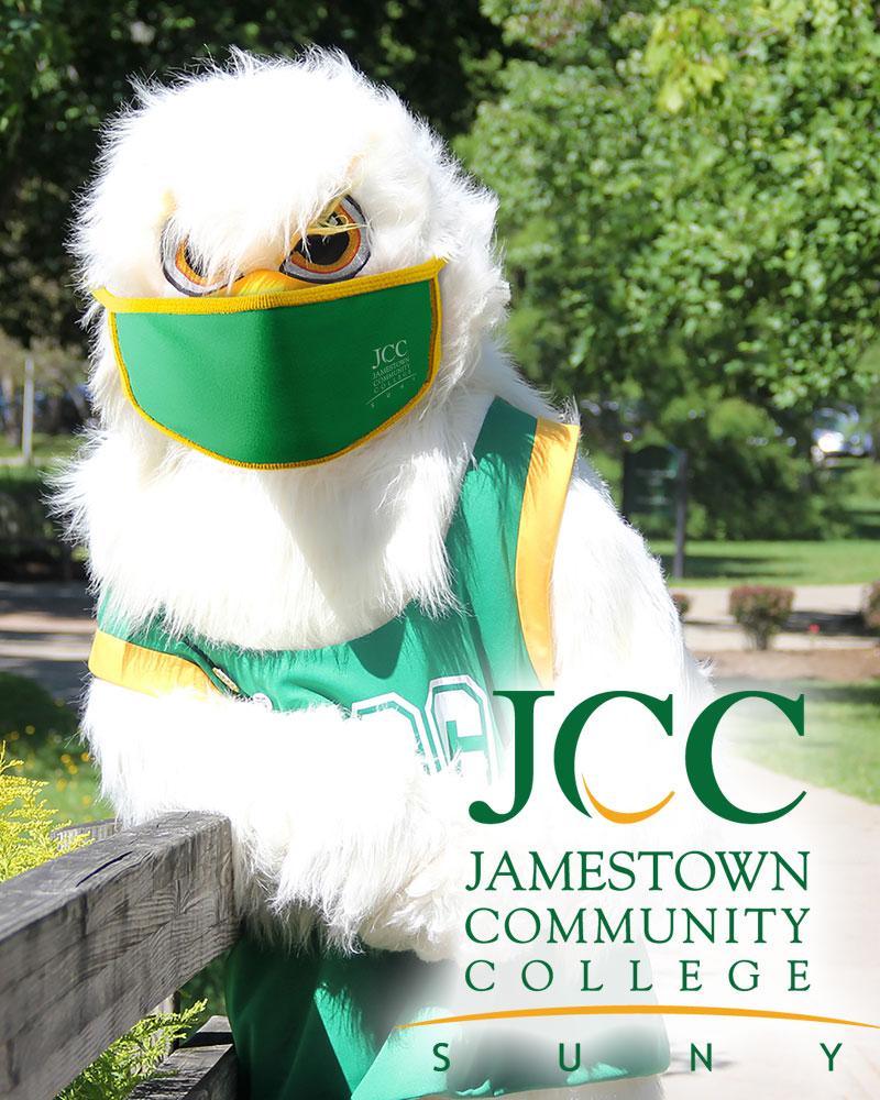 Jamestown Community College mascot JJ Jayhawk