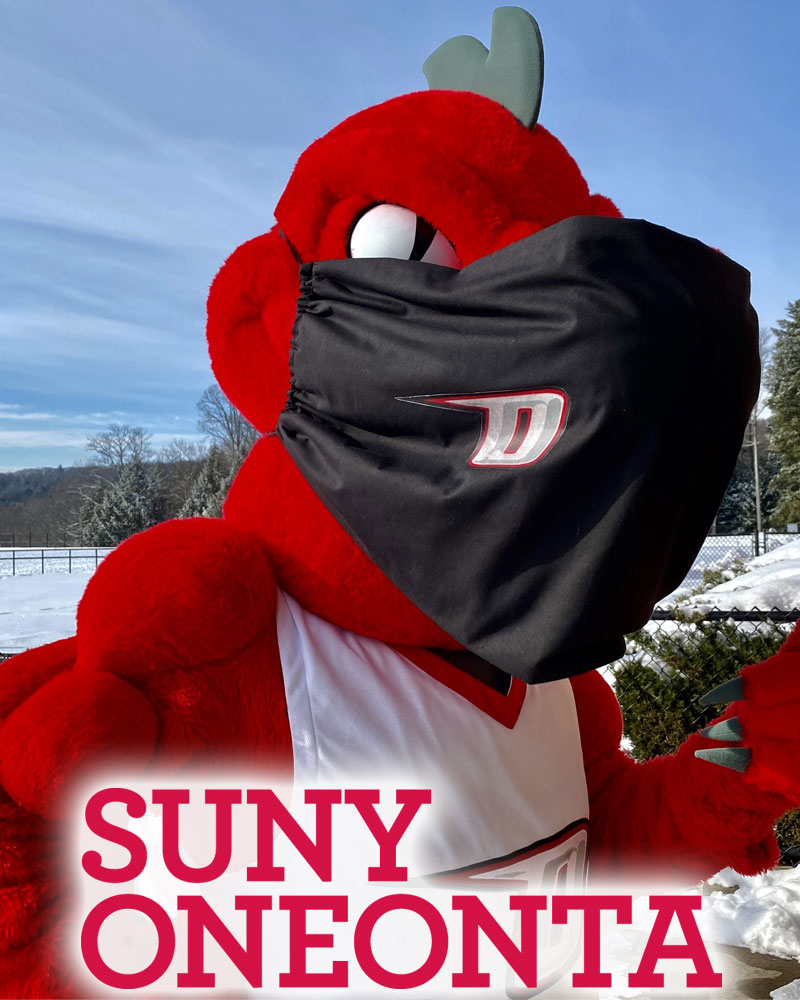 SUNY Oneonta mascot Red the dragon