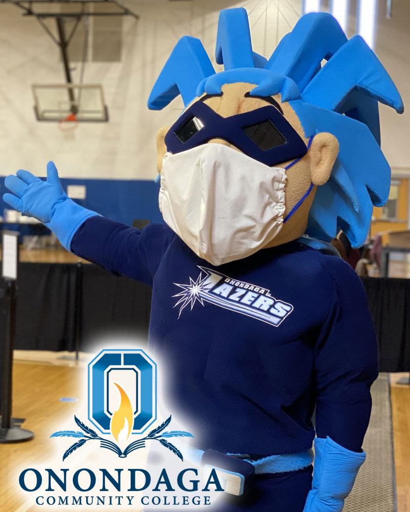 Onondaga Community College mascot Blaze