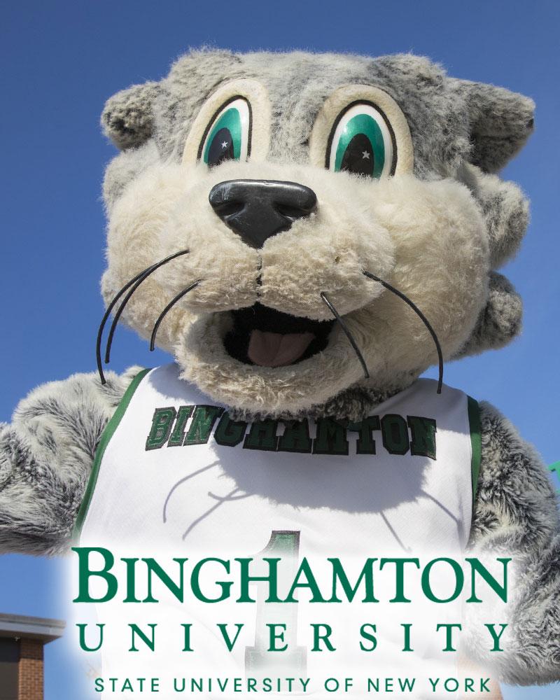 Binghamton University mascot Baxter Bearcat
