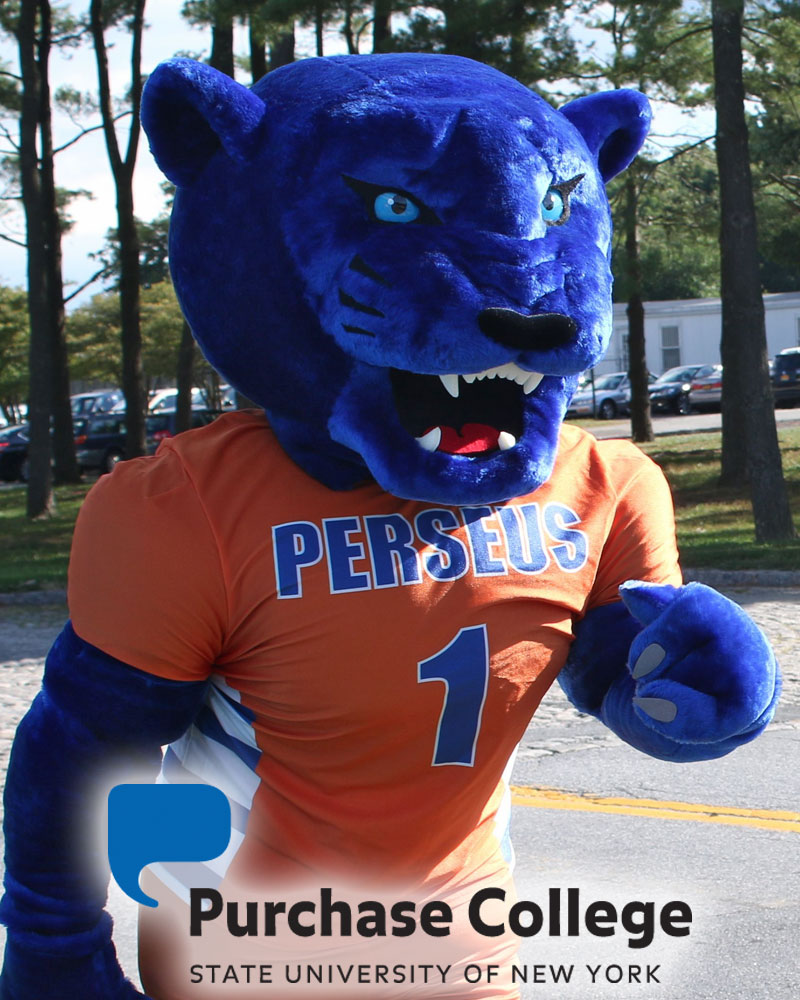 SUNY Purchase mascot Perseus Panther