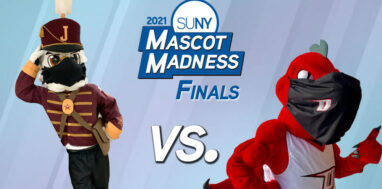 2021 SUNY Mascot Madness finals - boomer cannoneer vs red dragon