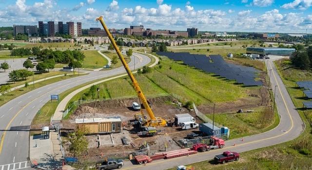 The University at Buffalo GRoW home under construction.